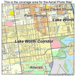 aerial photography map of lake worth corridor fl florida