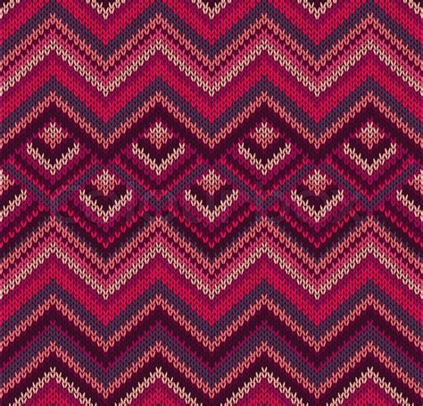 knit pattern vector beautiful knitted fabric pattern red pink knit style