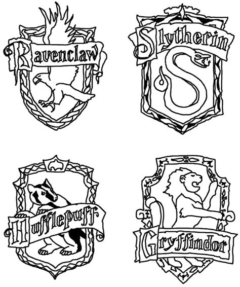 harry potter coloring pages gryffindor free coloring pages of slytherin crest