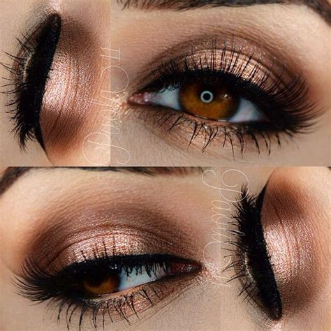 Eyeshadow Bronze gold smokey eye