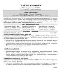 exle resume manager resume exle