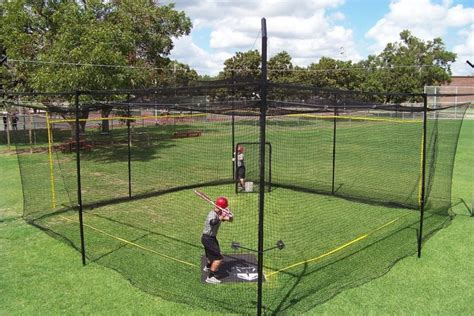 batting cages backyard square batting cage instructional products pinterest