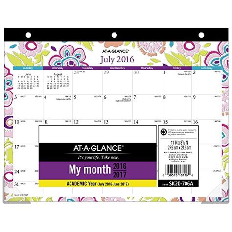 semester at a glance template glance academic year calendar monthly
