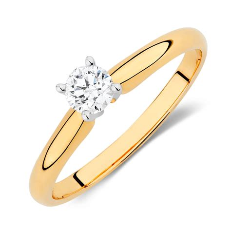 Solitaire Rings by Solitaire Engagement Ring With A 1 4 Carat In 14kt