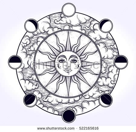 the grand nature therapy coloring book books vintage handdraw work sun stock vector