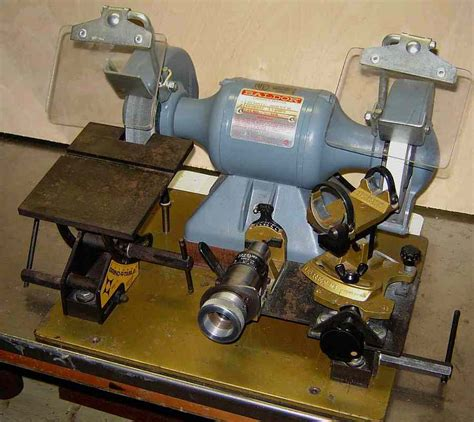 Uses Of A Bench Grinder - shop made drill sharpening jigs