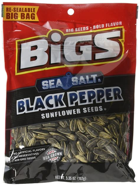 black pepper sunflower seeds bigs sunflower seeds pack of 2 bacon salt sizzlin bacon snack sunflower seeds