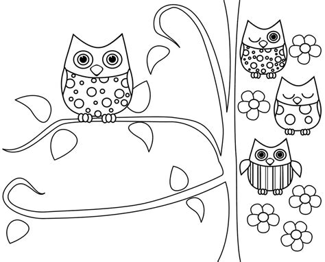 owl birthday coloring page cute cartoon owls coloring pages