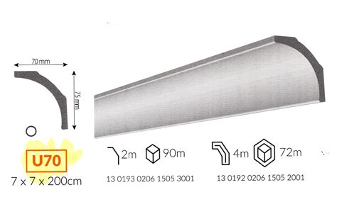 cornici da soffitto profilo cornice da soffitto u70 in polistirene