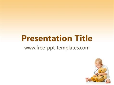 Pediatrics Powerpoint Template Pediatric Powerpoint Templates Free