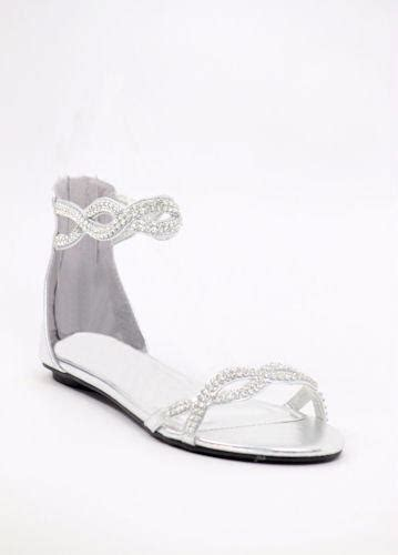 Silver Wedding Shoes, flat, rhinestones, from shopZoey   Prom