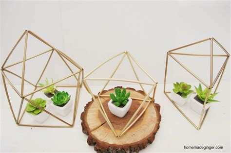 geometric home decor diy geometric planters homemade ginger