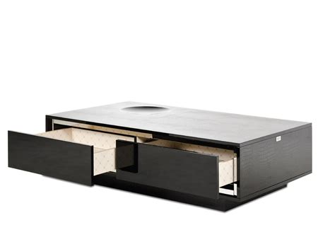 Modern Coffee Table With Drawers A X Grand Modern Black Crocodile Lacquer Coffee Table With Drawers Modern Coffee Tables
