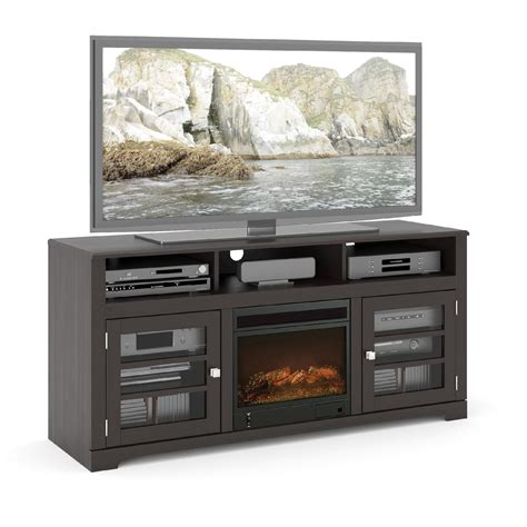 fireplace bench sonax west lake 60 quot fireplace tv bench
