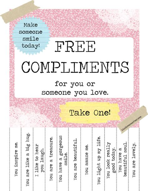 Do You Get Compliments On Your by Free Positive Thoughts Compliments For U Take