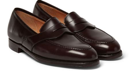 george cleverley loafers lyst george cleverley bradley leather loafers in