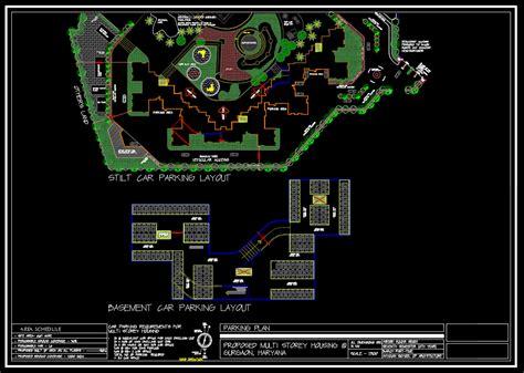 cad detailssite plan  multi storey cad details
