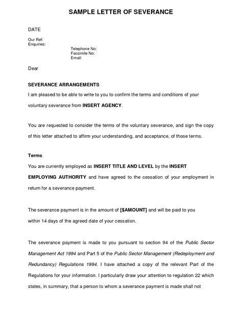voluntary redundancy letter template employer