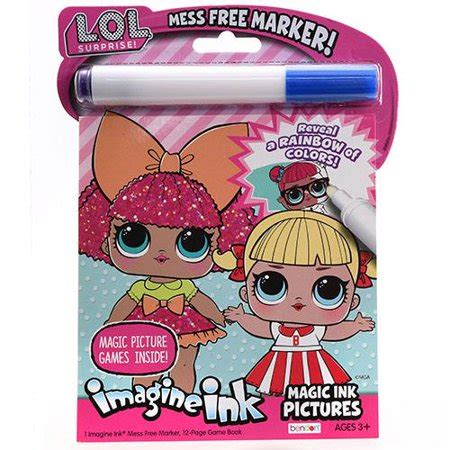 magic ink coloring books lol imagine ink magic ink pictures coloring book walmart
