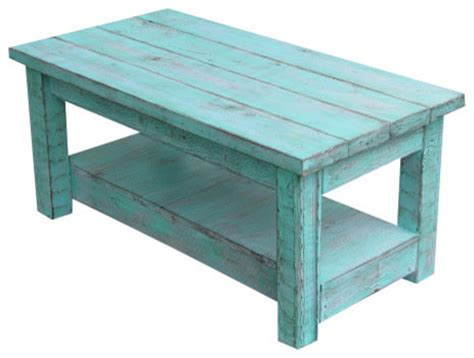 Turquoise Coffee Table by Rustic Coffee Table With Shelf Turquoise Farmhouse Coffee Tables By Rustic Exquisite Designs