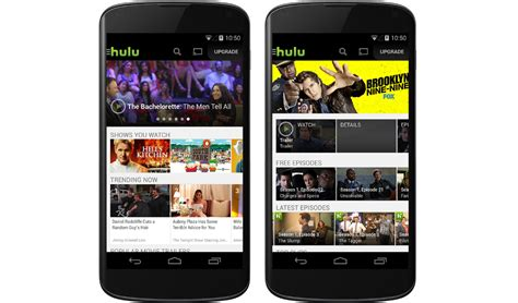 hulu app android hulu plus brings free content to android users in app update droid