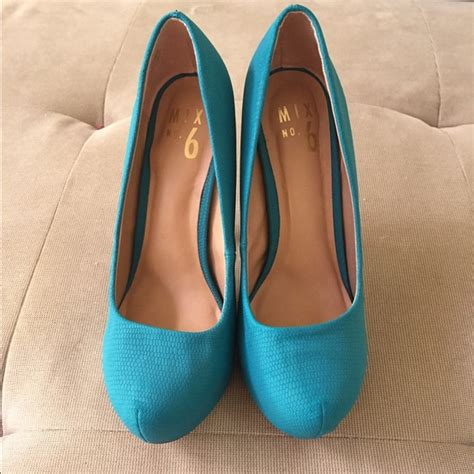 mix no 6 shoes 71 mix no 6 shoes blue green heels from s