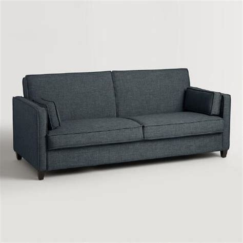world market sleeper sofa indigo blue nolee folding sofa bed world market