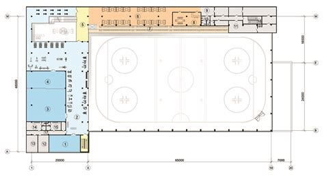 roller skating rink floor plans sports centre with ice rink association of architects