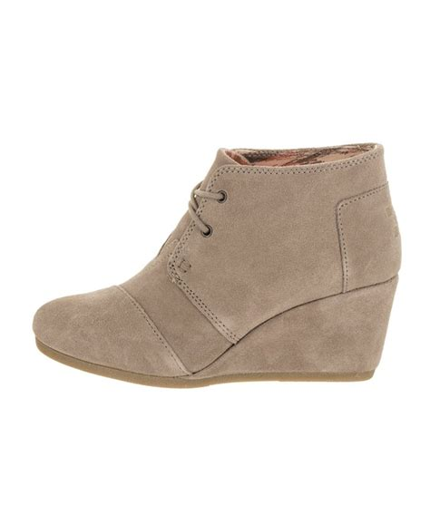 toms desert wedge ankle boots