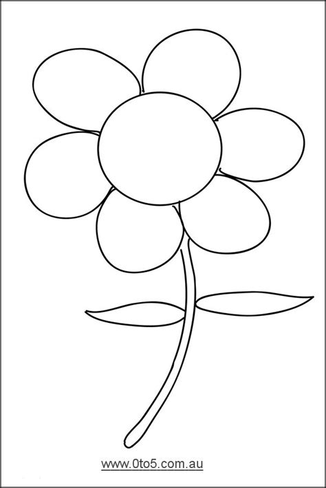 flower colouring template 0to5 template flower dayschool science