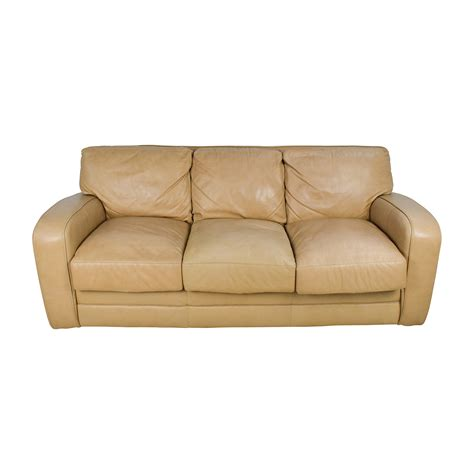 leather sofa beige 78 off beige three seat leather sofa sofas