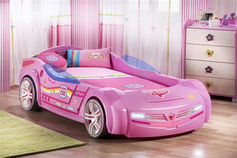 pink car bed car bedroom for pretty in pink modern miami by turbo beds