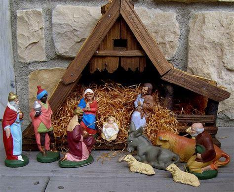german creche nativity german germany nativity manger christmas creche  figures animals