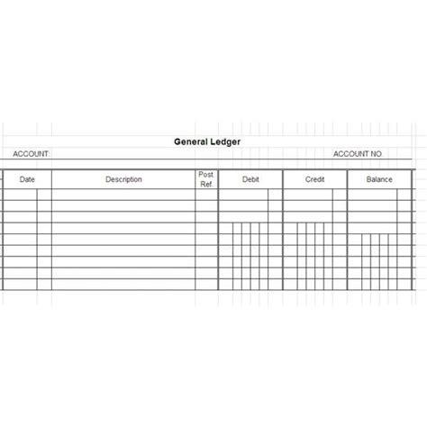 ledger card template excel 5 general ledger templates word excel pdf templates