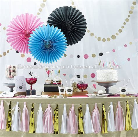 hanging tissue paper fans honeycomb balls tissue party
