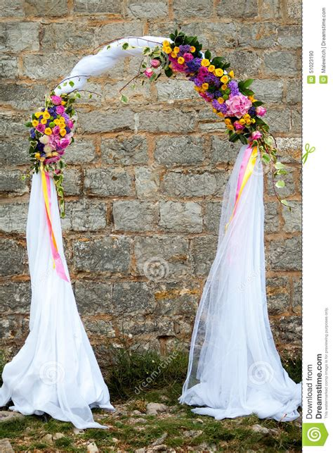 wedding arch stock photo image