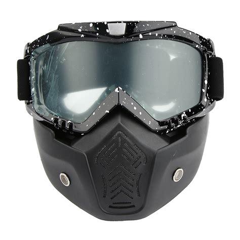 motocross goggles for glasses detachable goggles glasses helmet open face mask for