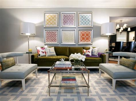 modern grey living room with pops of green happy wife photo page hgtv