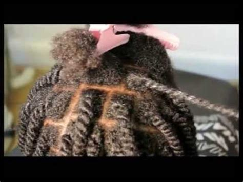 natural two strand twist for afro & mixed race hair pain