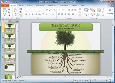 roots template animated tree with roots powerpoint template powerpoint