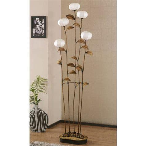 le sur pied de salon grande le salon sensitive 5 branches sur pied papier hanji fleurs asie zen fr