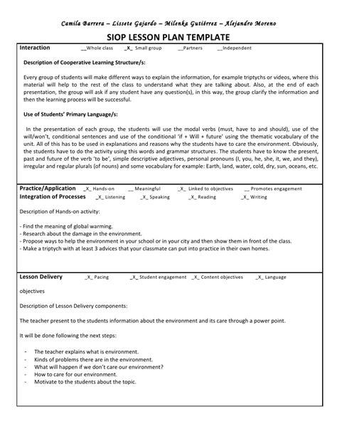 siop lesson plan template 4 oneinaminion dominance genetics