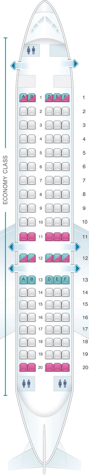 Seat Map Helvetic Airways Fokker 100   SeatMaestro