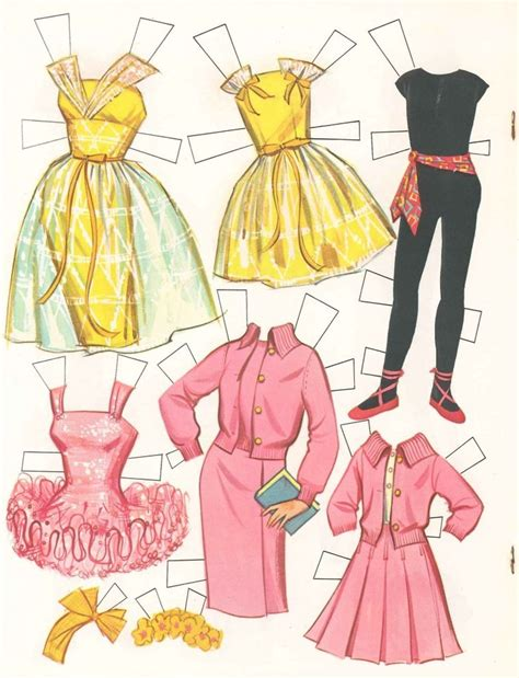 How To Make Doll Clothes With Paper - 25 unika vintage paper dolls id 233 er p 229