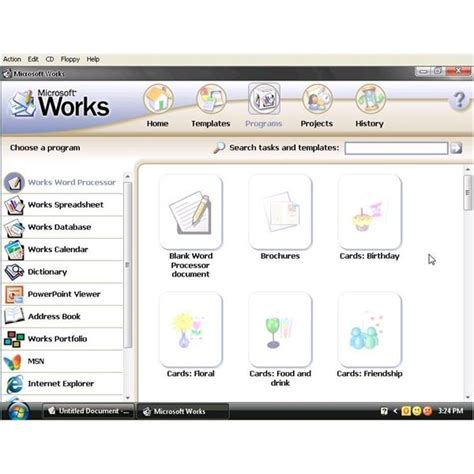 choosing office software does ms works 8 include