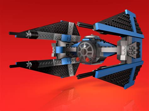 design brief lego 3d cgi rendering of lego tie fighter