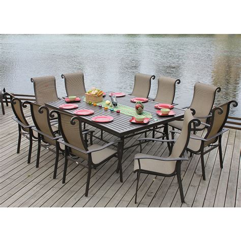 doral 11 patio outdoor dining set from dynamic home