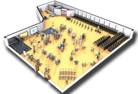 Commercial Bank Floor Plan the gym sample fitness facility design cybex