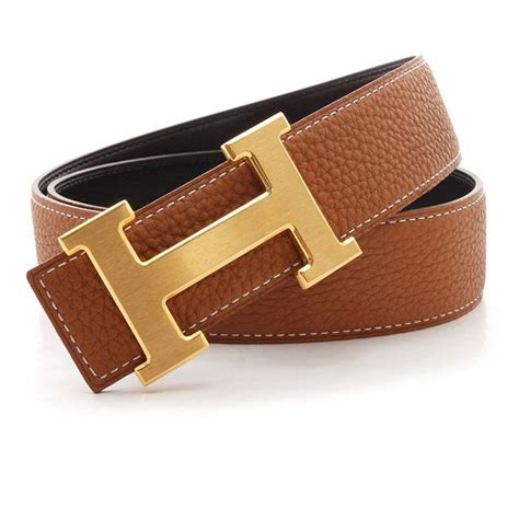 hermes h belt with gold h buckle brown color 119 for you