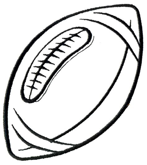 football outline template grand slam designs embroidery design football outline 4